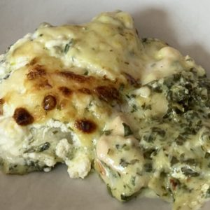 Spinat-Hühnchen-Lasagne